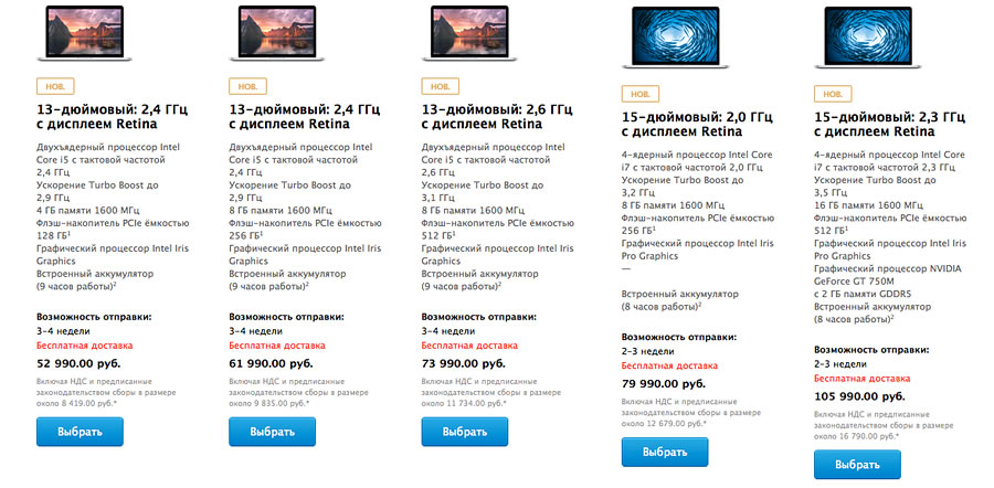 цена на новые apple new ноутбуки macbook pro retina 2013 russian gudapp