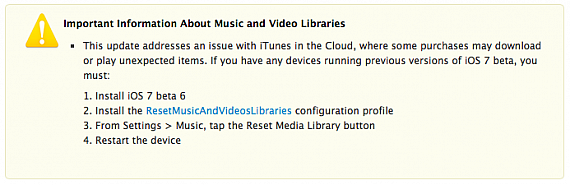 ошибка itunes in the cloud исправлена в ios 7 beta 6 на сайте gudapp.ru