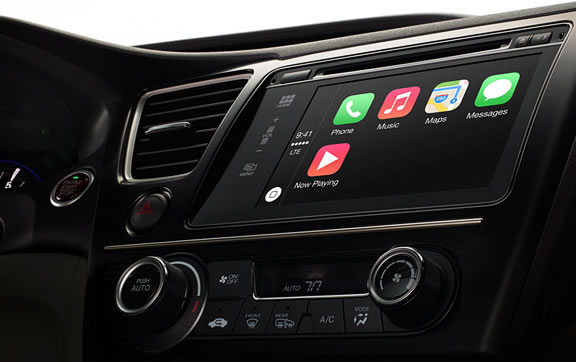 Apple презентовала новую функцию CarPlay – систему интеграции iOS-гаджетов с автомобилем iOS in the car gudapp