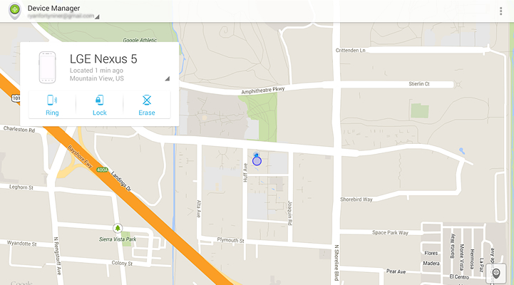 Диспетчр устройства или Android device manager нахождение смартфона или планшета на карте
