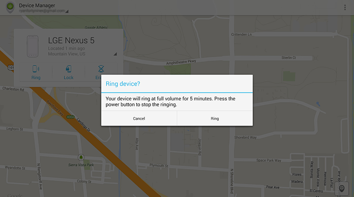 Диспетчр устройства или Android device manager сделать звонок