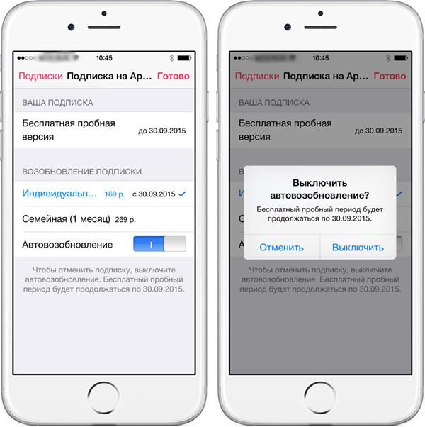 Как отказаться от подписки приложения на айфоне
