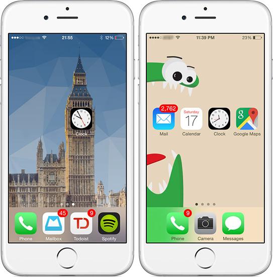 Приложение Makeovr: добавит пустые иконки на домашний экран iPhone