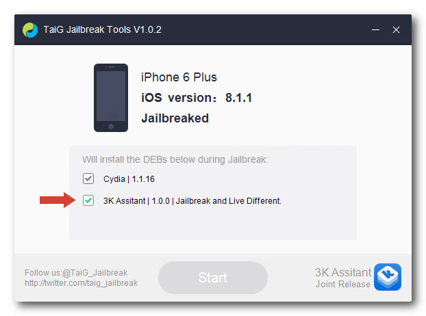 Как сделать джейлбрейк iOS 8.1.1 для iPhone, iPad или iPod Touch с помощью TaiGJBreak [Инструкция] taigjbreak gudapp