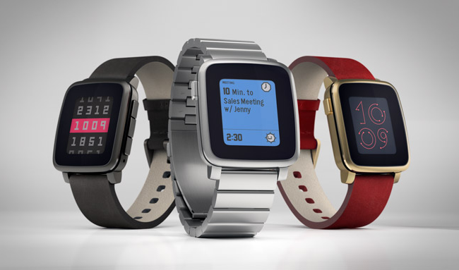 смарт часы Pebble Time Steel